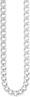 Men's Stainless Steel Flat Curb Chain Necklace
