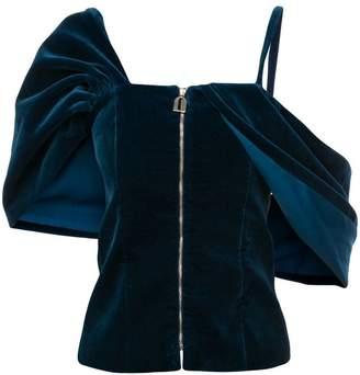 Osman one-shoulder zipped top