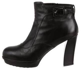 Tod's Platform Round-Toe Ankle Boots