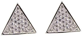 Lisa Freede Womens Micro Pave Triangle Stud