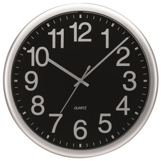 """Victory Light Tempus 13-1/2"""" Commercial Wall Clock with Silver Frame and Quartz Movement"""