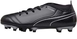 6049ddde01b7 Puma Junior One 17.4 FG Football Boots Black/Silver