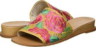 Kenneth Cole New York Women's Joanne Raffia w/Embroidery Slide Sandal