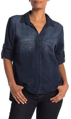 Cloth & Stone Split Back Button Down Shirt