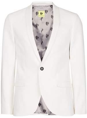 NOOSE & MONKEY White Slim Fit Suit Jacket $220 thestylecure.com