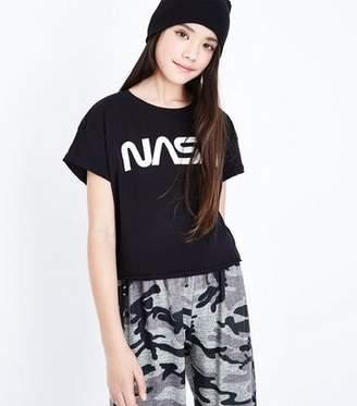 New Look Teens Black Nasa Slogan Front T-Shirt