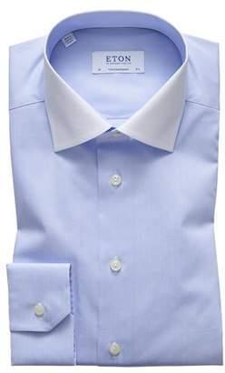 Eton Men's Contemporary Fit White-Collar Solid Dress Shirt