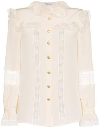 Philosophy di Lorenzo Serafini high neck ruffle detail blouse