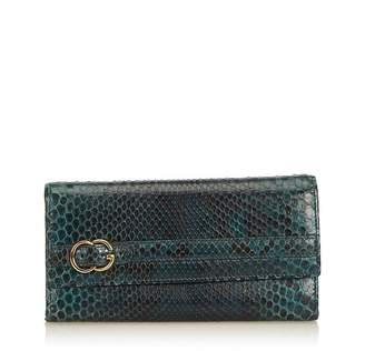 Gucci Vintage Python Leather Long Wallet