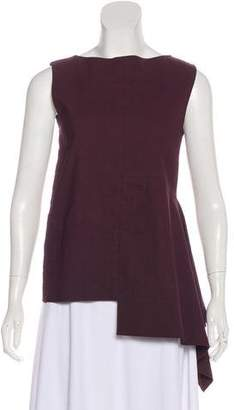 Marni Asymmetrical Sleeveless Top