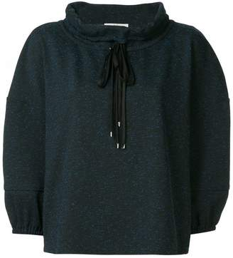 Tibi Eclipse high neck sweatshirt