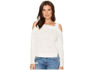 Lucky Brand Cold Shoulder Sweater Women's Sweater