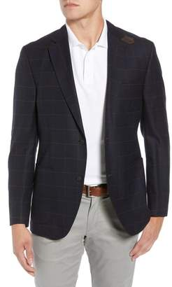 Kroon Edge 2 Classic Fit Windowpane Wool Sport Coat