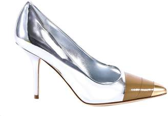 Burberry Metallic Pointed Toe Pumps