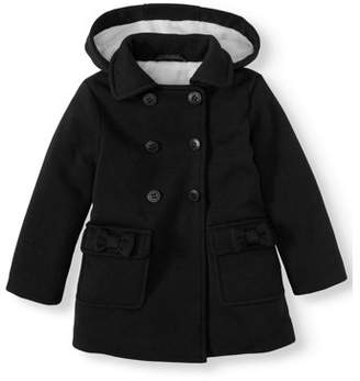 Bhip BHIP Double Bow Fleece Peacoat (Baby Girls & Toddler Girls)
