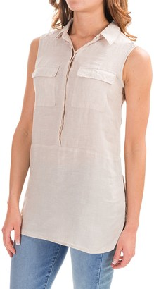 Jones New York Jones & Co Cross-Dye Linen Shirt - Sleeveless (For Women) $16.99 thestylecure.com