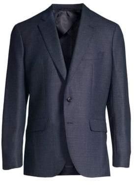 Larusmiani Single-Breasted Wool-Blend Blazer