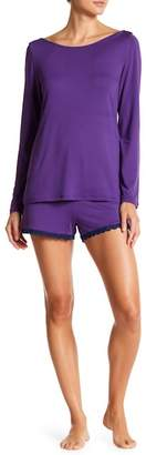Maidenform Long Sleeve Tee & Shorts Pajama Set
