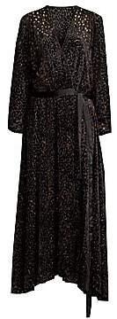 Diane von Furstenberg Women's Animal Devore Wrap Dress