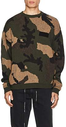 Off-White Men's Camouflage Cotton-Wool Jacquard Sweater