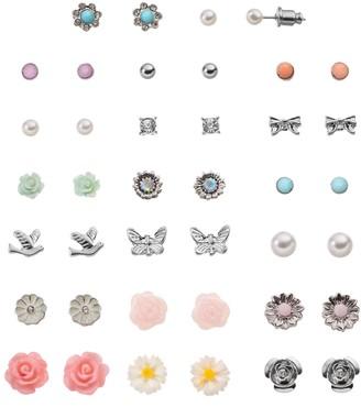 Mudd Flower, Bow, Bird & Butterfly Stud Earring Set
