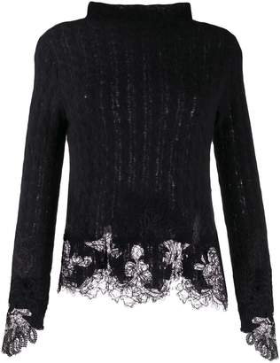 Ermanno Scervino fitted lace detail jumper