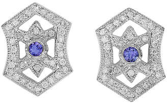 Effy Fine Jewelry 14K 0.83 Ct. Tw. Diamond & Tanzanite Earrings
