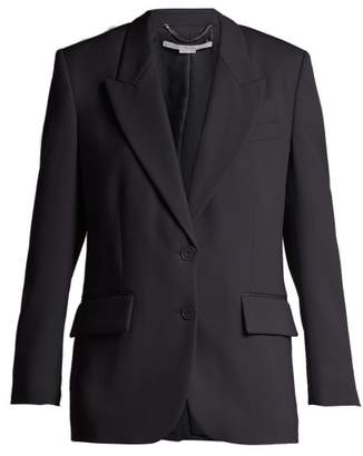 Stella McCartney Single Breasted Wool Blazer - Womens - Navy