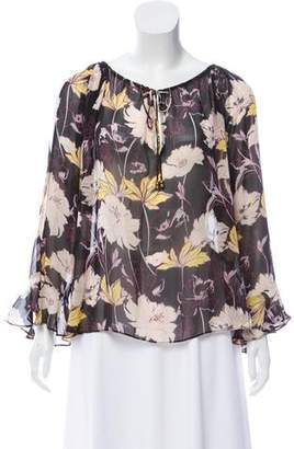 Ella Moss Cold-Shoulder Print Top w/ Tags