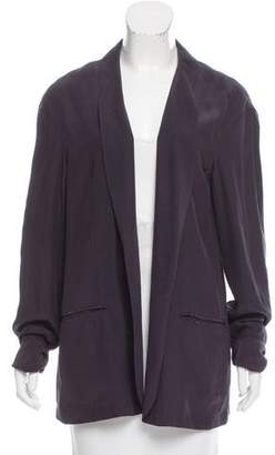 Baja East Silk Shawl Collar Blazer