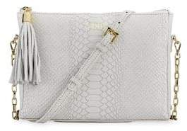 GiGi New York Hailey Crossbody Python Leather Tassel Bag