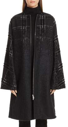 Lafayette 148 New York Alverna Tufted Ombre Plaid Coat