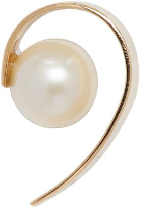 Saskia Diez Gold Stripe Pearl Ear Cuff