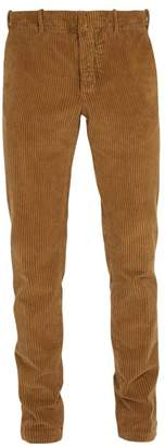 Incotex Slim Leg Corduroy Trousers - Mens - Beige
