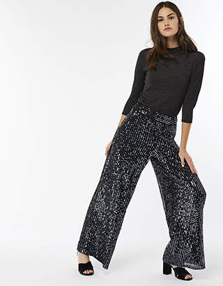 Selma Sequin Wide Leg Trousers