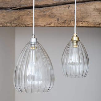 9a17dd41555 clear Glow Lighting Ribbed Glass Molly Pendant Light