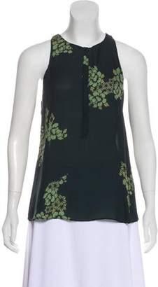 A.L.C. Floral Silk Top