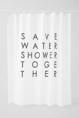 H&M Text-print Shower Curtain - Black