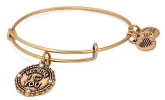 Alex and Ani Because I Love You Expandable Wire Bangle Bracelet