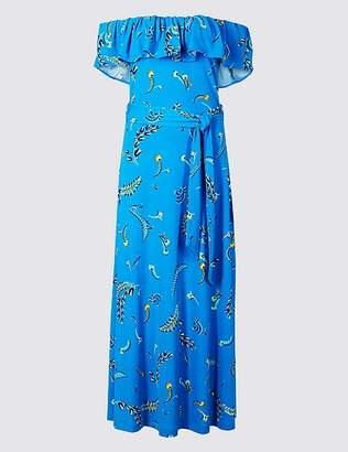 Marks and Spencer Printed Short Sleeve Maxi Dress