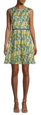 Draper James Embroidered Fit-&-Flare Dress