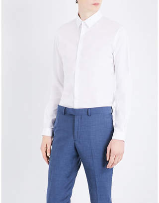 Sandro Slim-fit stretch-cotton shirt
