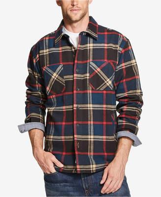 Weatherproof Vintage Mens Plaid Flannel Shirt Jacket, s