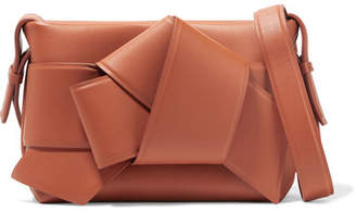 Acne Studios Musubi Knotted Leather Shoulder Bag - Camel