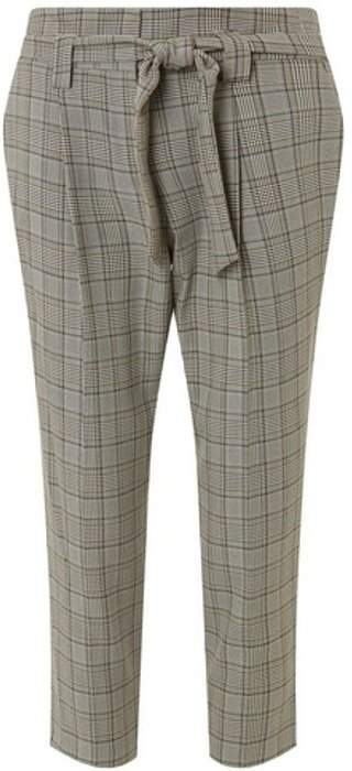 Womens Petite Multi Checked Trousers