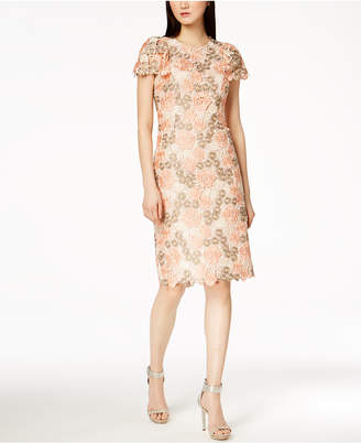 Calvin Klein Multicolored Lace Sheath Dress