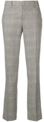 Pt01 checked tailored trousers