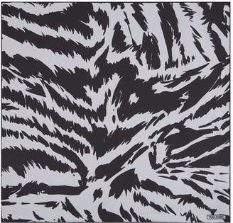 Tom Ford Zebra Print Silk Pocket Square