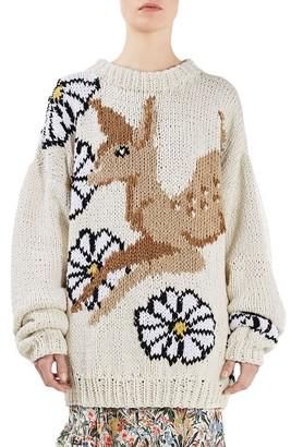 Women's Topshop Unique Lindbergh Intarsia Sweater $475 thestylecure.com