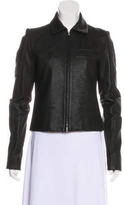 Maison Margiela Embossed Leather Jacket